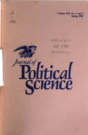 Journal of Political Science Book