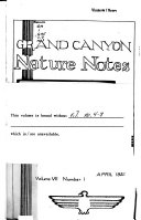 Grand Canyon Nature Notes