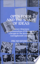 Open Form And The Shape Of Ideas Book PDF