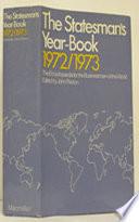 The Statesman s Year Book 1972 73
