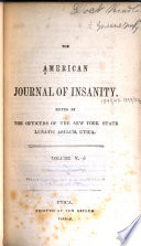 The American Journal of Insanity