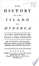 The History of the Island of Minorca Book