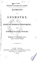 Elements of Geometry  and Plane and Spherical Trigonometry Book