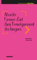 Pdf Aborder l'oeuvre d'art dans l'enseignement des langues - Ebook Telecharger
