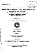 Maritime Cargo Loss Prevention Book PDF
