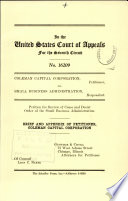Coleman Capital Corporation V. Small Business Administration