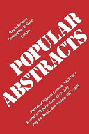 Popular Abstracts: Journal of Popular Culture 1967-1977, ...