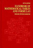 Handbook of Mathematical Tables and Formulas