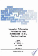 Negative Differential Resistance and Instabilities in 2 D Semiconductors