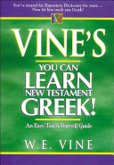 Vine's You Can Learn New Testament Greek