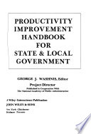 Productivity Improvement Handbook for State and Local Government
