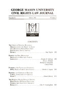 George Mason University Civil Rights Law Journal