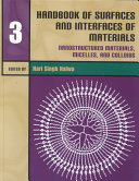 Handbook of Surfaces and Interfaces of Materials: Nanostructured materials, micelles and colloids