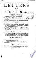 Letters To Serena  Book