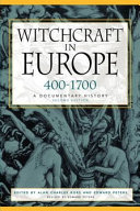 Witchcraft in Europe  400 1700
