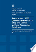 Terrorism Act 2000 Remedial Order 2011