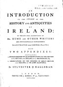 An Introduction to the Study of the History and Antiquities ...