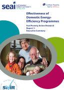 Effectiveness of Domestic Energy Programmes  Executive Summary
