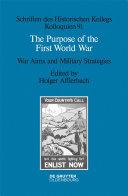 The Purpose of the First World War Pdf/ePub eBook