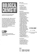 Biological Chemistry Book PDF