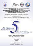 Peti kongres medicine sporta i sportskih nauka Srbije sa međunarodnim učešćem