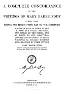 A Complete Concordance to the Writings of Mary Baker Eddy