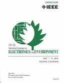 Proceedings of the 2001 IEEE International Symposium on Electronics and the Environment : 2001 IEEE ISEE