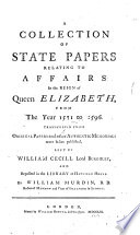 Collection of State Papers ...