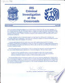 IRS Criminal Investigation at the Crossroads