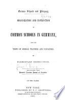 German Schools And Pedagogy
