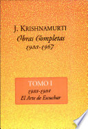 The Collected Works of J. Krishnamurti  , Band 1