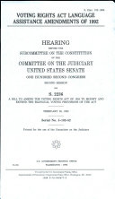 Voting Rights Act Language Assistance Amendments of 1992