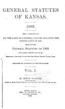 General Statutes of Kansas  1889
