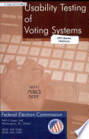 Usability Testing of Voting Systems