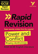 York Notes for AQA GCSE 9 1 Rapid Revision  Power and Conflict Poetry Anthology   Refresh  Revise and Catch Up