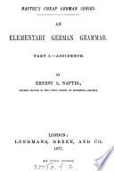 An elementary German grammar