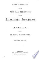 Proceedings of the Annual Convention of the Roadmasters' and Maintenance of Way Association of America
