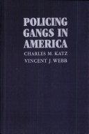 Policing Gangs in America