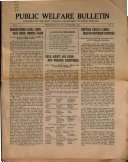 Public Welfare Bulletin