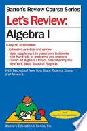 Let's Review Algebra I