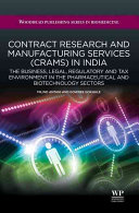 Contract Research and Manufacturing Services  CRAMS  in India