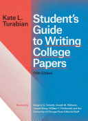 Student   s Guide to Writing College Papers  Fifth Edition
