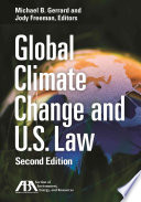 Global Climate Change And U S Law Book PDF