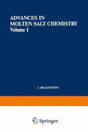 Advances in Molten Salt Chemistry
