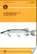 Synopsis of Biological Data on the Northern Pike  Esox Lucius Linneaus  1758