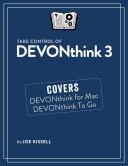 Take Control of DEVONthink 3 [Pdf/ePub] eBook