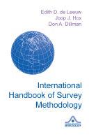 International Handbook of Survey Methodology