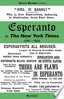 Esperanto In The New York Times 1887 1922