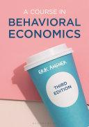 A course in behavioral economics / Erik Angner