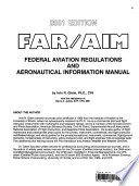 Federal Aviation Regulations and Airmen's Information Manual 2001
